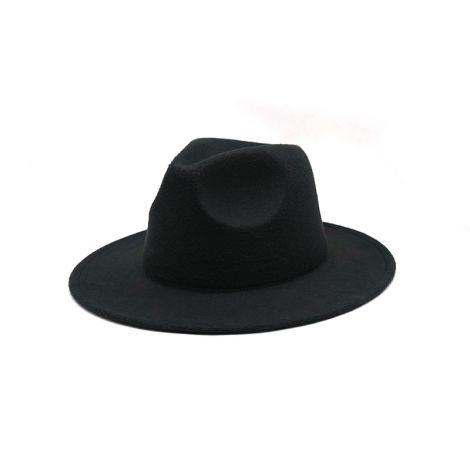 Autumn Winter Womens Felt Hat Fedoras Big Brim Hats For Women British Style Vintage Church Hats Lady Flat Brim White jazz cap