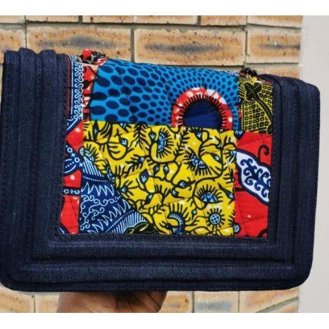 Ankara Denim Bag