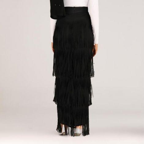 Winter Autumn Womens Skirt High Waist Fringe Long Skirt Elegant Office Bodycon Sheath Pencil Skirts Muslim Tassel Skirt Femme